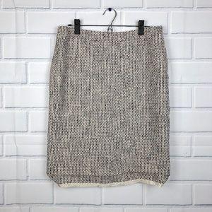 J. Crew No 2 Pencil Skirt in Tweed Size 8